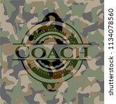 coach on camo texture | Shutterstock .eps vector #1134078560