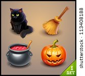 halloween icons set 1 | Shutterstock .eps vector #113408188