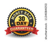 30 day money back guarantee... | Shutterstock .eps vector #1134084053