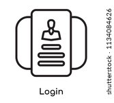 login icon vector isolated on...