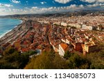 view of the old town  the... | Shutterstock . vector #1134085073