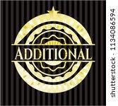 additional gold emblem or badge | Shutterstock .eps vector #1134086594