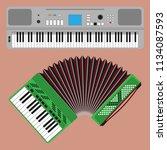 keyboard musical instruments... | Shutterstock .eps vector #1134087593