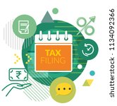 tax filing   abstract  ... | Shutterstock .eps vector #1134092366