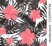 summer seamless pattern with... | Shutterstock .eps vector #1134094196