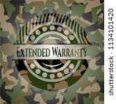 extended warranty on camo... | Shutterstock .eps vector #1134101420