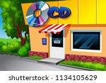 vector illustration of music... | Shutterstock .eps vector #1134105629