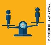 team balance. human resources...   Shutterstock .eps vector #1134110429