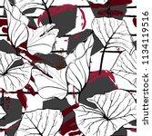 tropical  modern stripes motif. ... | Shutterstock .eps vector #1134119516
