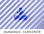 blue upload icon on the gray... | Shutterstock . vector #1134119678