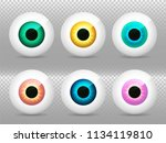 eye. realistic 3d eyeball... | Shutterstock .eps vector #1134119810