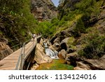 the sapadere canyon in the... | Shutterstock . vector #1134124016