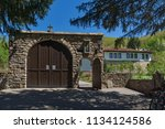 panoramic view of medieval... | Shutterstock . vector #1134124586