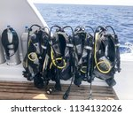 A Lot Of Black Diving Suit With ...