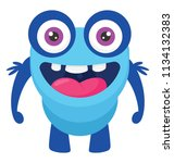 a frog like monster with... | Shutterstock .eps vector #1134132383