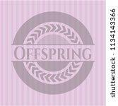 offspring pink emblem. retro   Shutterstock .eps vector #1134143366