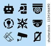 filled technology icon set such ... | Shutterstock .eps vector #1134146690
