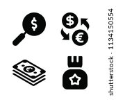 filled money icon set such as... | Shutterstock .eps vector #1134150554