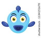 a small scorpaeniformes marine ... | Shutterstock .eps vector #1134151670