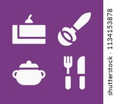 filled food icon set such as... | Shutterstock .eps vector #1134153878