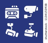 filled technology icon set such ... | Shutterstock .eps vector #1134153938