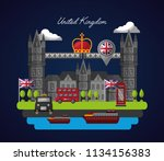 united kingdom country flag | Shutterstock .eps vector #1134156383