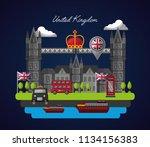 united kingdom country flag   Shutterstock .eps vector #1134156383