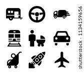 set of 9 transport filled icons ... | Shutterstock .eps vector #1134159656