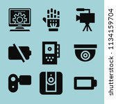 filled technology icon set such ... | Shutterstock .eps vector #1134159704