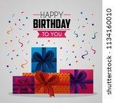 happy birthday card | Shutterstock .eps vector #1134160010
