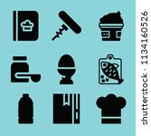filled food icon set such as... | Shutterstock .eps vector #1134160526