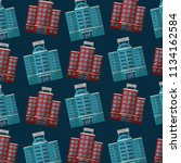 hotels building facade... | Shutterstock .eps vector #1134162584
