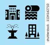 filled buildings icon set such... | Shutterstock .eps vector #1134162710