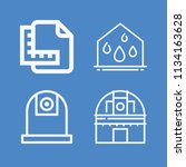 outline buildings icon set such ... | Shutterstock .eps vector #1134163628