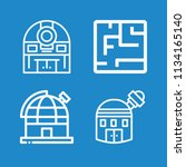 outline buildings icon set such ... | Shutterstock .eps vector #1134165140