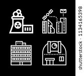 outline buildings icon set such ... | Shutterstock .eps vector #1134165398
