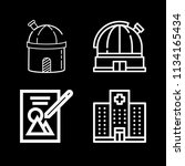 outline buildings icon set such ... | Shutterstock .eps vector #1134165434