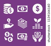 filled money icon set such as... | Shutterstock .eps vector #1134166160