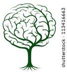 Brain Tree Illustration  Tree...