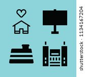 filled buildings icon set such... | Shutterstock .eps vector #1134167204
