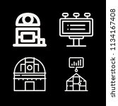 outline buildings icon set such ... | Shutterstock .eps vector #1134167408