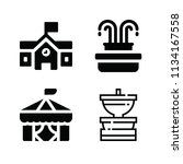 filled buildings icon set such... | Shutterstock .eps vector #1134167558