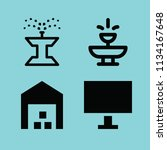 filled buildings icon set such... | Shutterstock .eps vector #1134167648