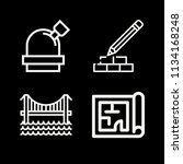 outline buildings icon set such ... | Shutterstock .eps vector #1134168248