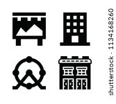filled buildings icon set such... | Shutterstock .eps vector #1134168260