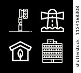 outline buildings icon set such ... | Shutterstock .eps vector #1134168308