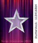 silver star with diamonds on... | Shutterstock .eps vector #113416864