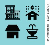 filled buildings icon set such... | Shutterstock .eps vector #1134168734