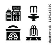 filled buildings icon set such... | Shutterstock .eps vector #1134168860