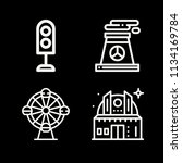 outline buildings icon set such ... | Shutterstock .eps vector #1134169784